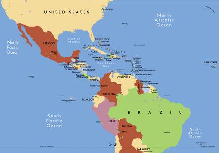 america centrale: America centrale. Vettoriali