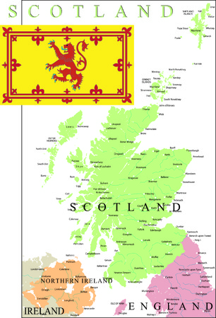 edinburgh: Schottland Karte Teil des Vereinigten K�nigreichs.