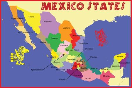 mexiko karte: Mexiko-Karte.