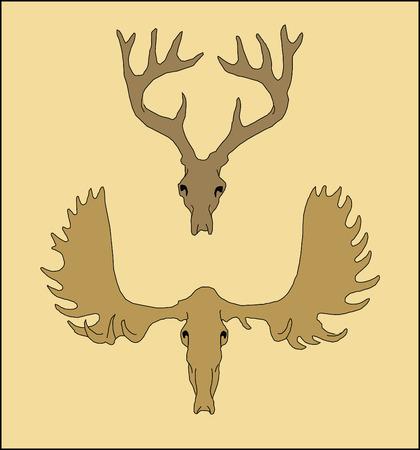 elk point: Design hunt. Illustration