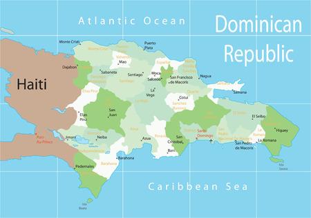 Dominican Republic. Vector