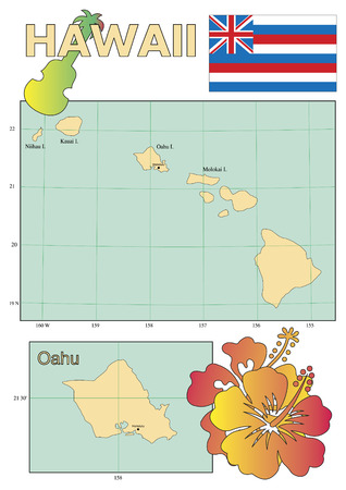 polynesia: Hawaii map