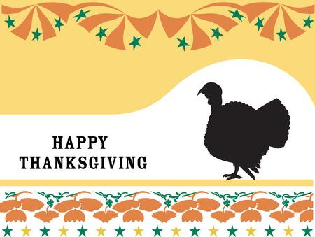 Happy thanksgiving. Vector