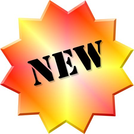 New sticker. Stock Photo - 5586106