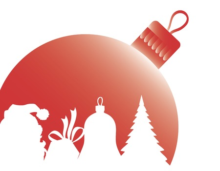 christmas decorations with white background: Shape Christmas ball.