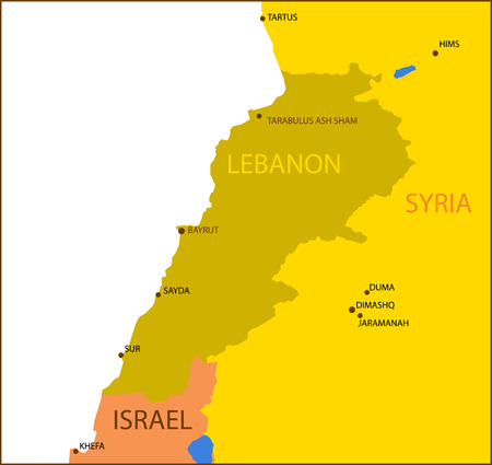 lebanon: Lebanon map. Illustration