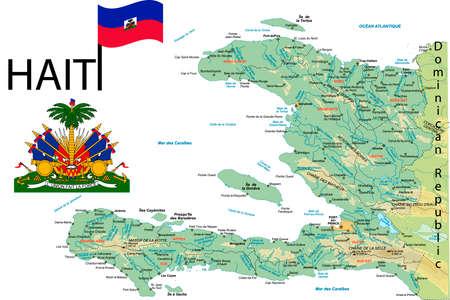 nationalist: Haiti map.