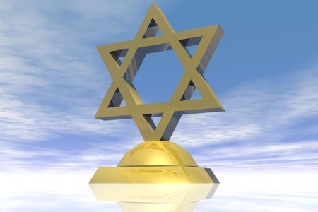 Gold Star of David.