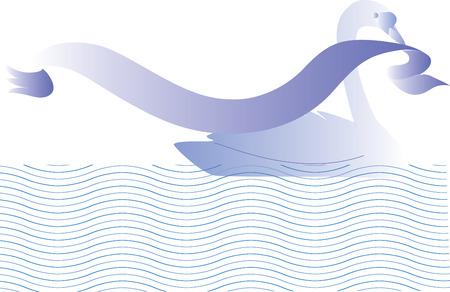 Swan. Vector