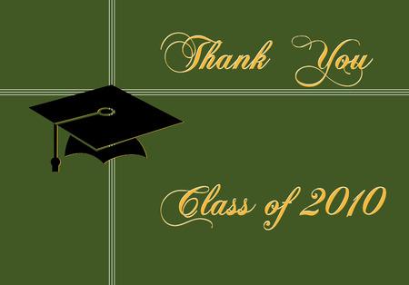 symbol mortar: Graduation card. Illustration