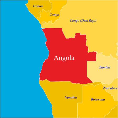 angola: Angola map. Illustration