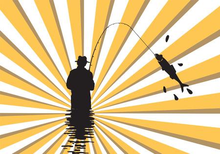 coast line: Fishing. Illustration