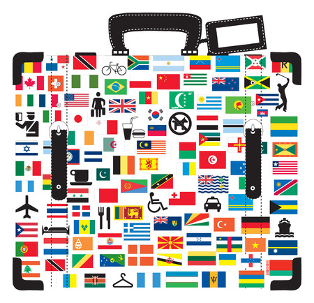 Suitcase for traveller. Stock Vector - 7033670