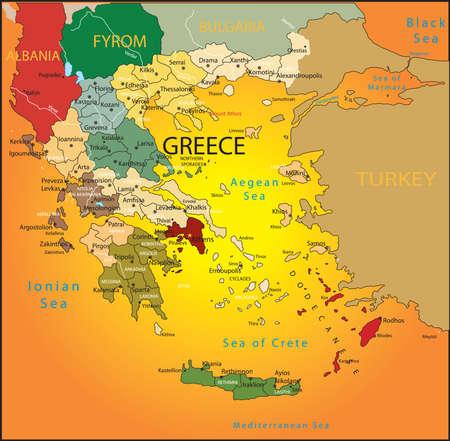Greece map. Vector