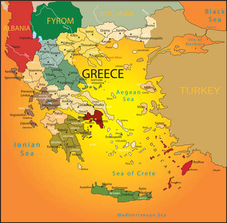 country: Greece map.