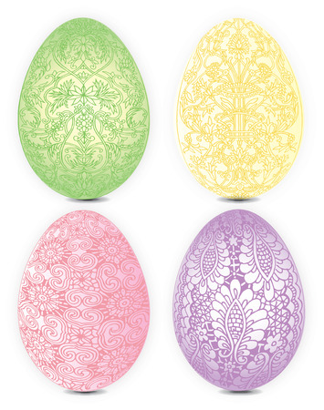 objects: Easter egg icons . Illustration