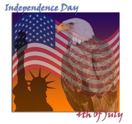 Independence day of United States of America. photo