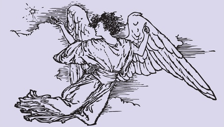 drawing dove: Angel symbol