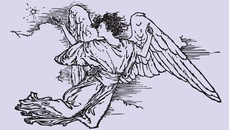 paloma caricatura: Símbolo Ángel Vectores