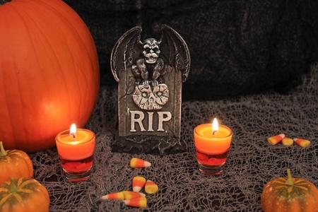 scary night: Halloween invitation for dead birthday. Stock Photo
