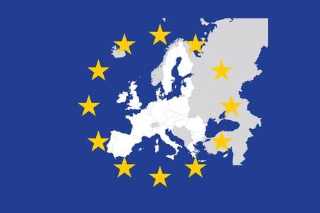 유럽의: 유럽 연합 (EU) 일러스트