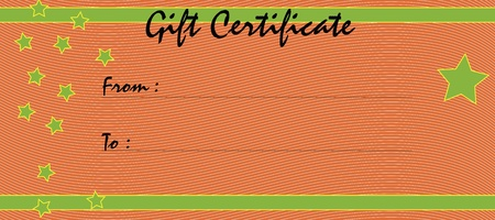 redeem: Gift certificate. Illustration