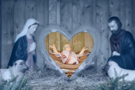creche: Nativity scene.