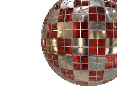 Retro christmas ball isolated on white background. Stock Photo - 11197340