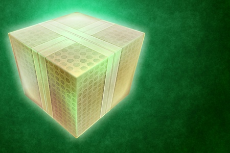 event party festive:  Gift box 3d illustration. Stock Photo