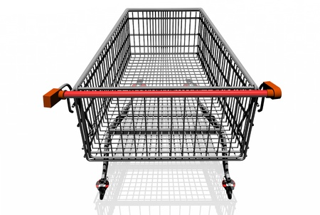 CART Of  SUPERMARKET on white background. photo