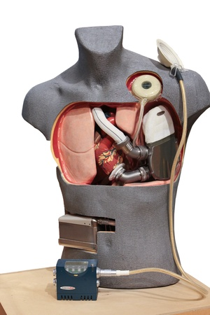 Artificial Heart Pump displayed at the Ottawa science museum. (Canada)  Stock Photo