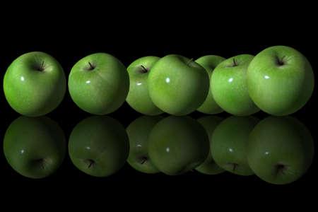 manzana verde: Grupo de Manzana Verde Foto de archivo
