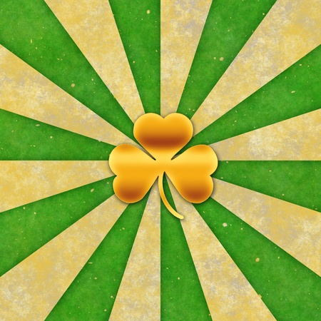 Vintage background for St patrick day   3 leaves Stock Photo - 17651552