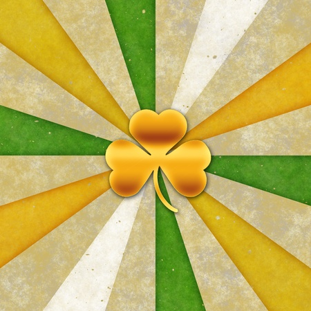 Vintage background for St patrick day. (3 leaves) Stock Photo - 17570184