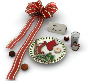 Christmas cookies and milk  photo
