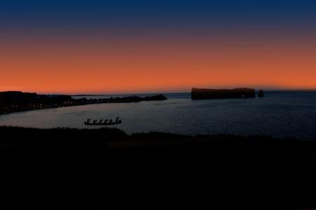 Panorama in Gasp Peninsula during night  photo