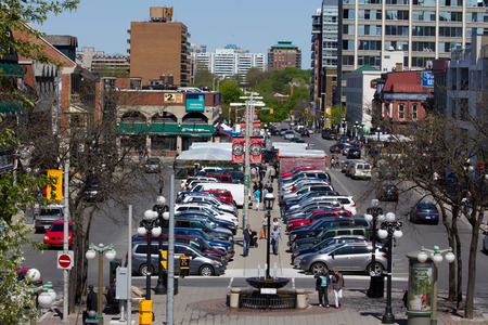 Ottawa city, downtown, during spring 2012