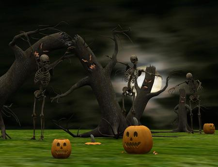 Surreal halloween photo