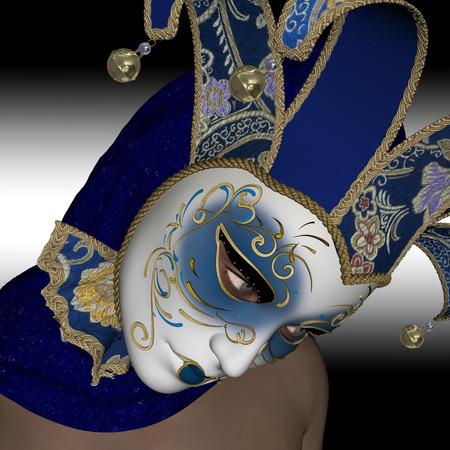 elegante: Masque vénitien pour elegante femme. Banque d'images