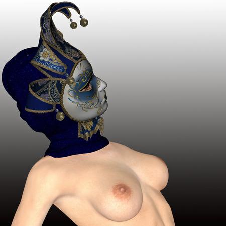 elegante: Masque vénitien pour elegante et jolie femme. Banque d'images