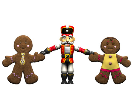 Gingerbread and Nutcrackers. photo