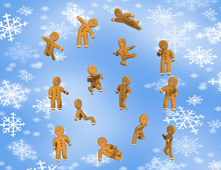 gingerbread: Freedom Gingerbread  are happy. Stock Photo
