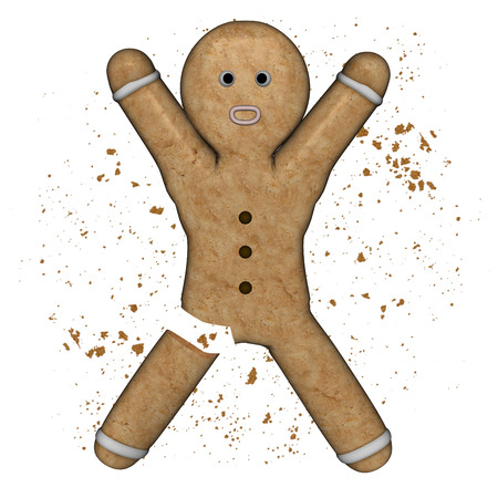 gingerbread: Gingerbread amputed.