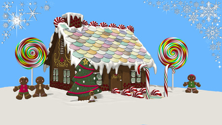 gingerbread: Gingerbread house. Stock Photo