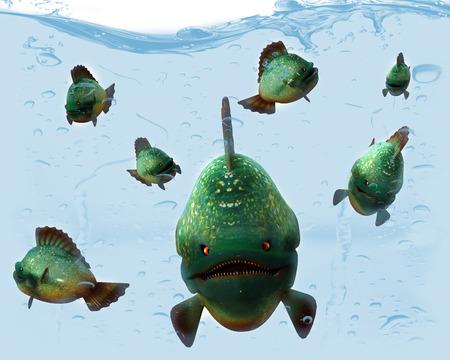 gills: Piranha.