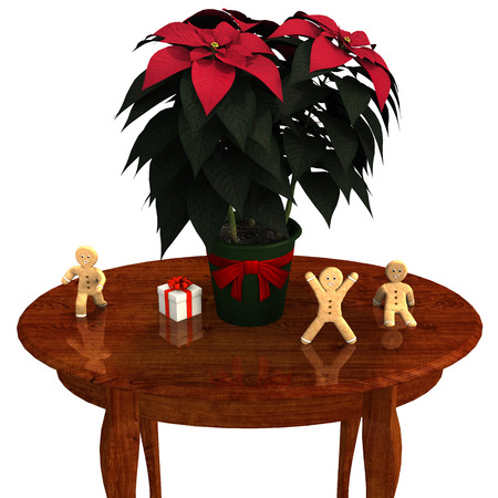 gingerbread: Poinsettia and Gingerbread .