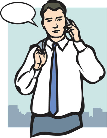 moneymaker: A Vector Illustration of a Man speaking on a Mobile Phone Illustration