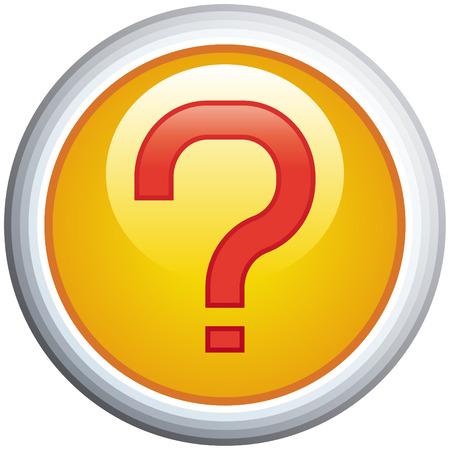 Question Mark Glossy Vector Icon Vector