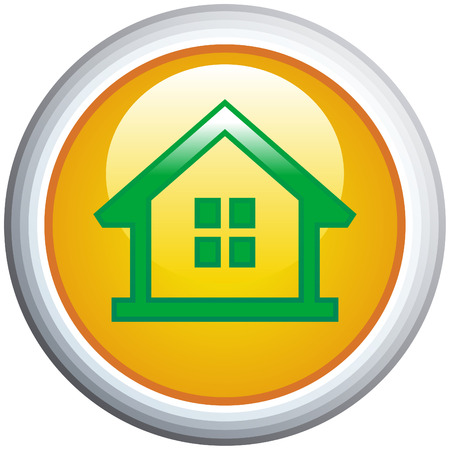 homestead: House Glossy Vector Icon