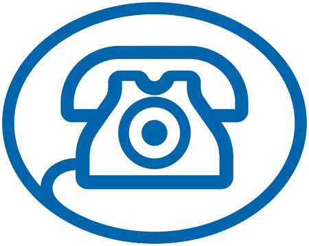 retro phone: Telephone Vector Logo